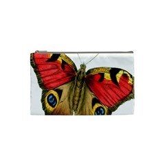 Butterfly Bright Vintage Drawing Cosmetic Bag (small)