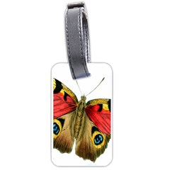 Butterfly Bright Vintage Drawing Luggage Tags (one Side)