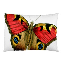 Butterfly Bright Vintage Drawing Pillow Case (two Sides)