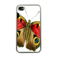Butterfly Bright Vintage Drawing Apple Iphone 4 Case (clear)