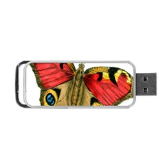 Butterfly Bright Vintage Drawing Portable Usb Flash (two Sides)