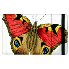 Butterfly Bright Vintage Drawing Apple Ipad 2 Flip Case