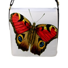 Butterfly Bright Vintage Drawing Flap Messenger Bag (l)