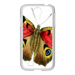 Butterfly Bright Vintage Drawing Samsung Galaxy S4 I9500/ I9505 Case (white)