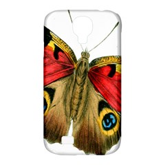 Butterfly Bright Vintage Drawing Samsung Galaxy S4 Classic Hardshell Case (pc+silicone)
