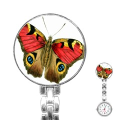 Butterfly Bright Vintage Drawing Stainless Steel Nurses Watch