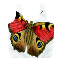 Butterfly Bright Vintage Drawing Full Print Recycle Bags (l)