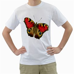 Butterfly Bright Vintage Drawing Men s T Shirt (white)