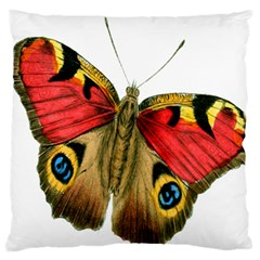 Butterfly Bright Vintage Drawing Large Flano Cushion Case (two Sides)