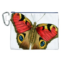 Butterfly Bright Vintage Drawing Canvas Cosmetic Bag (xxl)