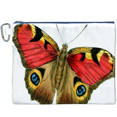 Butterfly Bright Vintage Drawing Canvas Cosmetic Bag (xxxl)