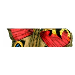 Butterfly Bright Vintage Drawing Satin Scarf (oblong)