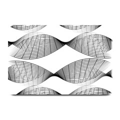 Curves Pattern Black On White Plate Mats
