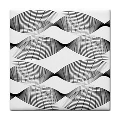 Curves Pattern Black On White Face Towel