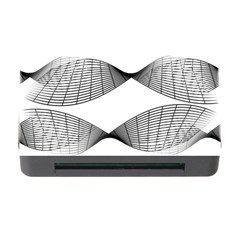Curves Pattern Black On White Memory Card Reader With Cf
