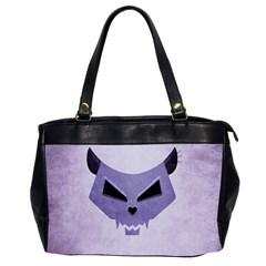 Purple Evil Cat Skull Office Handbags (2 Sides)