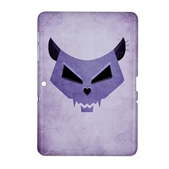 Purple Evil Cat Skull Samsung Galaxy Tab 2 (10 1 ) P5100 Hardshell Case