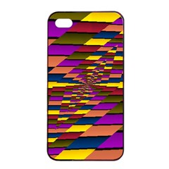 Autumn Check Apple Iphone 4/4s Seamless Case (black)
