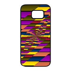 Autumn Check Samsung Galaxy S7 Edge Black Seamless Case