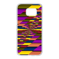 Autumn Check Samsung Galaxy S7 Edge White Seamless Case
