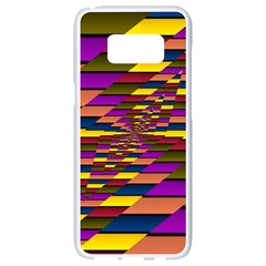 Autumn Check Samsung Galaxy S8 White Seamless Case
