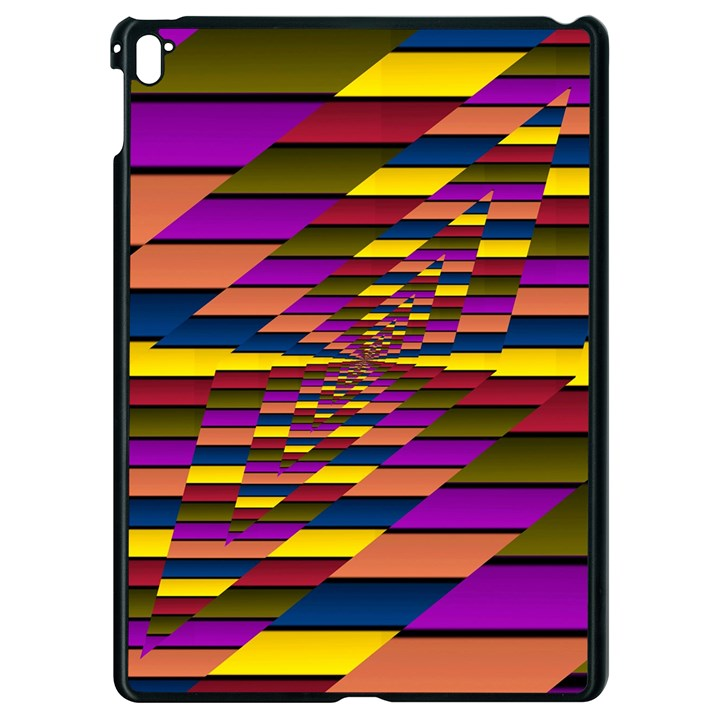 Autumn Check Apple iPad Pro 9.7   Black Seamless Case