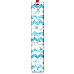 Baby Blue Chevron Grunge Large Book Marks