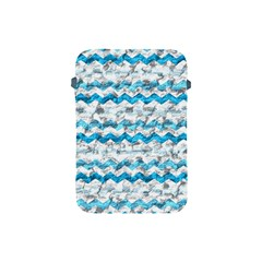 Baby Blue Chevron Grunge Apple Ipad Mini Protective Soft Cases