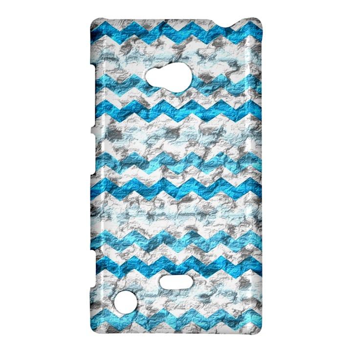 Baby Blue Chevron Grunge Nokia Lumia 720