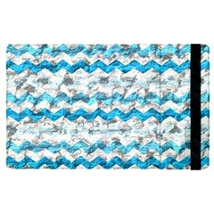 Baby Blue Chevron Grunge Apple Ipad Pro 9 7   Flip Case