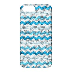 Baby Blue Chevron Grunge Apple Iphone 7 Plus Hardshell Case