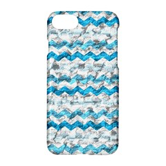 Baby Blue Chevron Grunge Apple Iphone 7 Hardshell Case