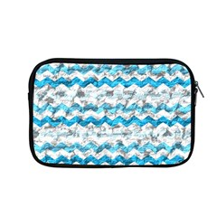 Baby Blue Chevron Grunge Apple Macbook Pro 13  Zipper Case