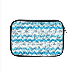 Baby Blue Chevron Grunge Apple Macbook Pro 15  Zipper Case