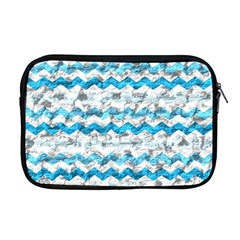 Baby Blue Chevron Grunge Apple Macbook Pro 17  Zipper Case