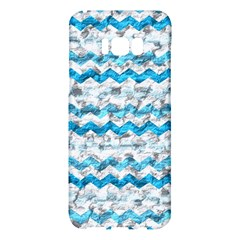 Baby Blue Chevron Grunge Samsung Galaxy S8 Plus Hardshell Case