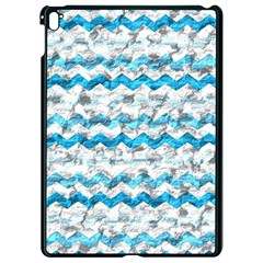 Baby Blue Chevron Grunge Apple Ipad Pro 9 7   Black Seamless Case