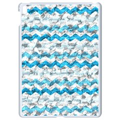 Baby Blue Chevron Grunge Apple Ipad Pro 9 7   White Seamless Case