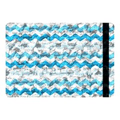 Baby Blue Chevron Grunge Apple Ipad Pro 10 5   Flip Case
