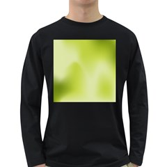 Green Soft Springtime Gradient Long Sleeve Dark T Shirts