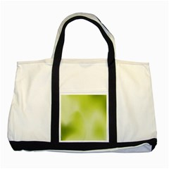Green Soft Springtime Gradient Two Tone Tote Bag