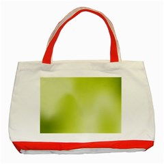 Green Soft Springtime Gradient Classic Tote Bag (red)