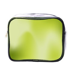 Green Soft Springtime Gradient Mini Toiletries Bags