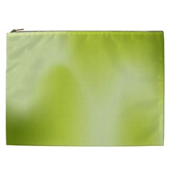 Green Soft Springtime Gradient Cosmetic Bag (xxl)