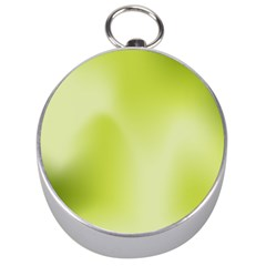 Green Soft Springtime Gradient Silver Compasses