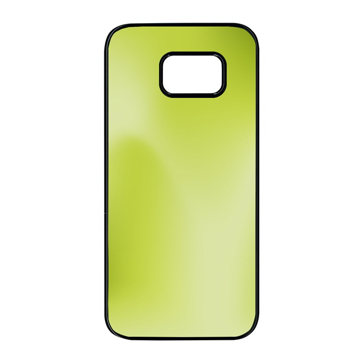 Green Soft Springtime Gradient Samsung Galaxy S7 edge Black Seamless Case