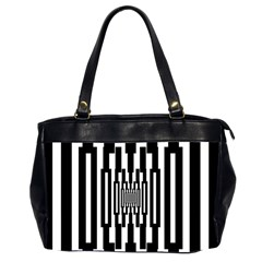 Black Stripes Endless Window Office Handbags (2 Sides)
