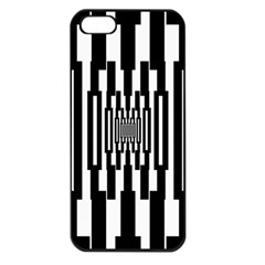 Black Stripes Endless Window Apple Iphone 5 Seamless Case (black)