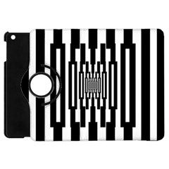 Black Stripes Endless Window Apple Ipad Mini Flip 360 Case