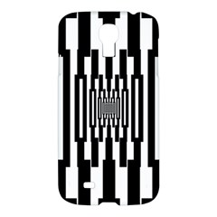 Black Stripes Endless Window Samsung Galaxy S4 I9500/i9505 Hardshell Case